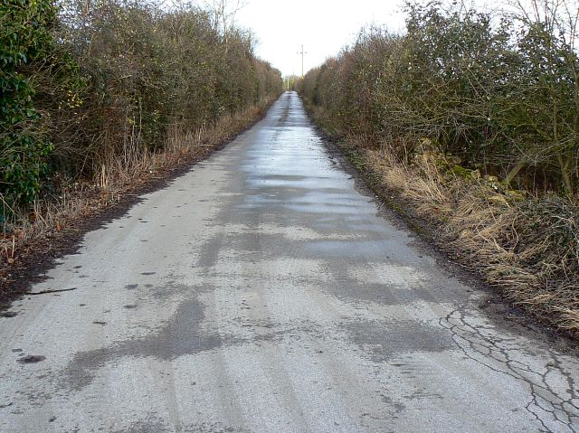 Trackbed of former Midland and South Western Junction Railway near Calmsden