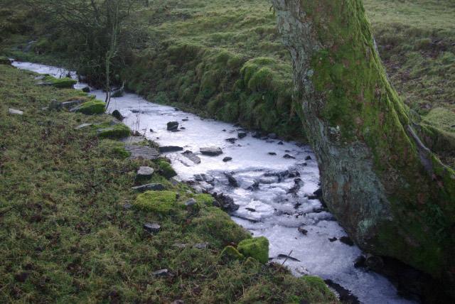 Frozen Stream below Lambrigg Fell