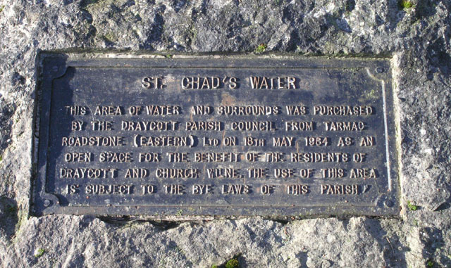 Plaque - St Chad's Water