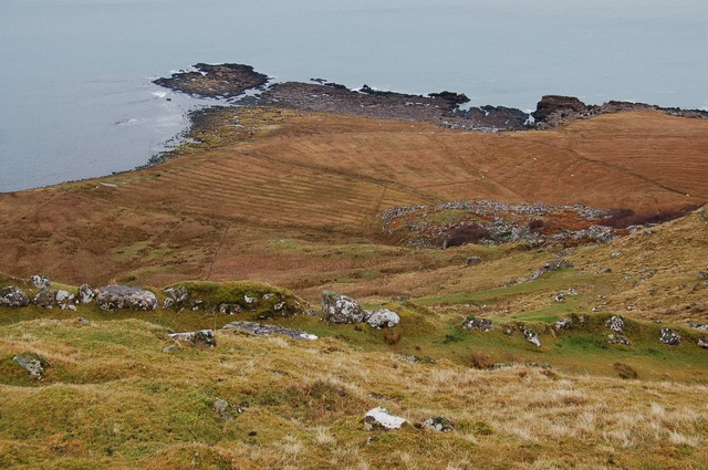 Signs of old settlement east of Staffin