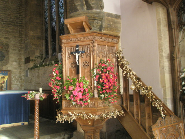Pulpit within Anglican church