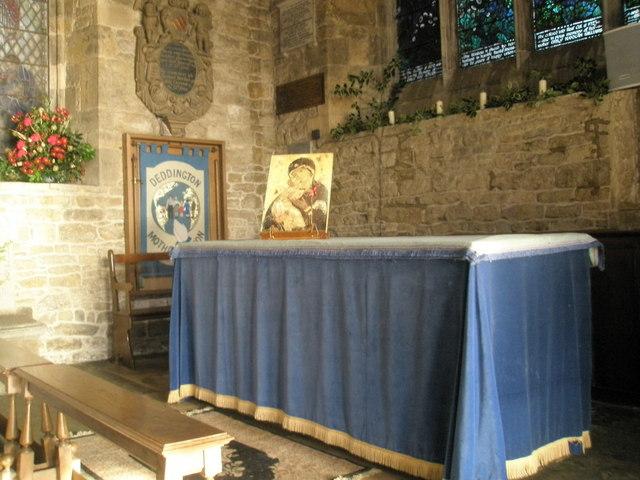 Side altar at the parish church