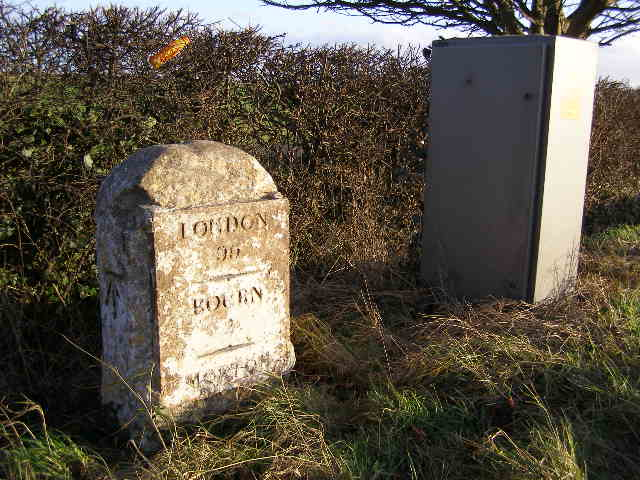 Milestone, near Morton