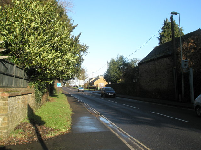 Looking north on the A4260