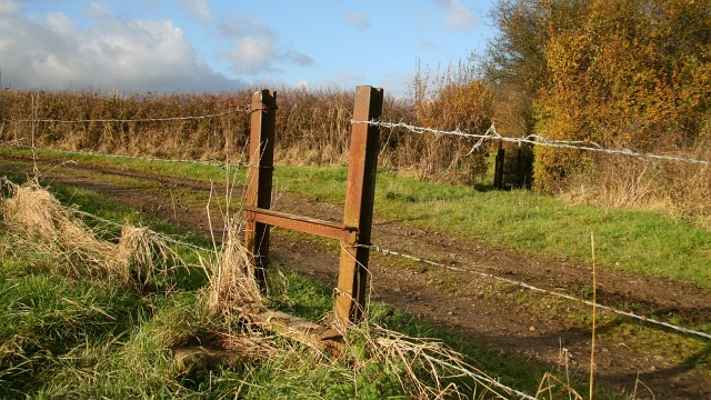 Public footpath and stiles