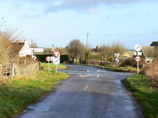 Crossroads near Chedworth