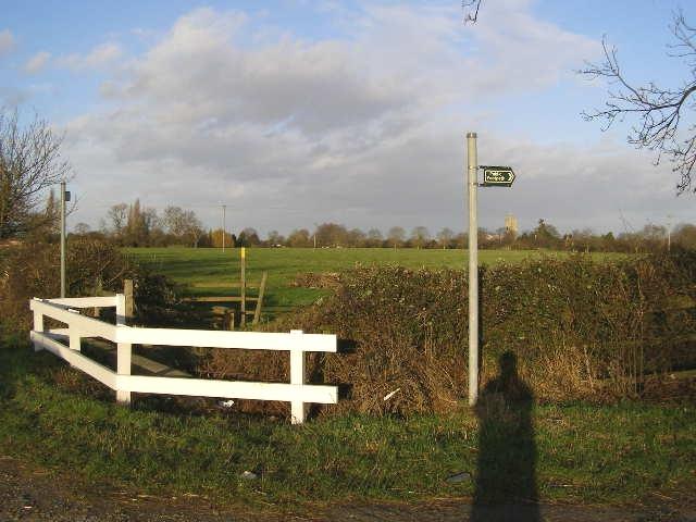 Public footpath signs, near Morton