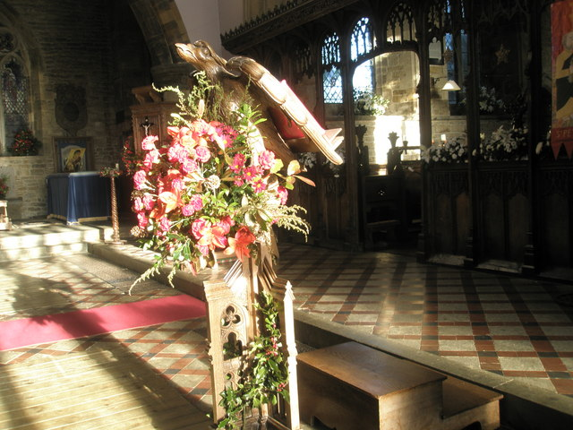Lectern in nave
