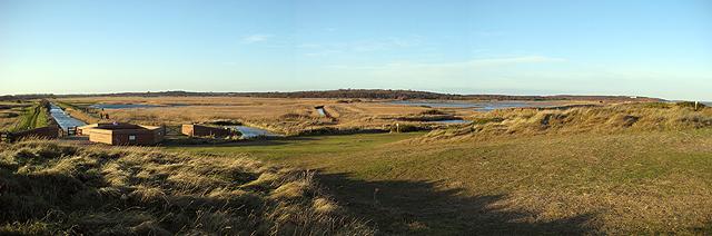Minsmere panorama, winter light