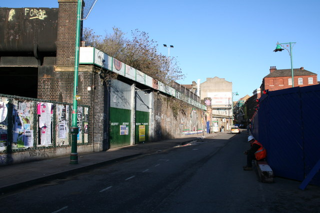 Old bridge abutments, Brick Lane, East London