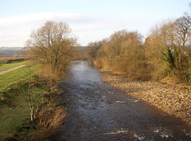 The River Wenning, Hornby with Farleton