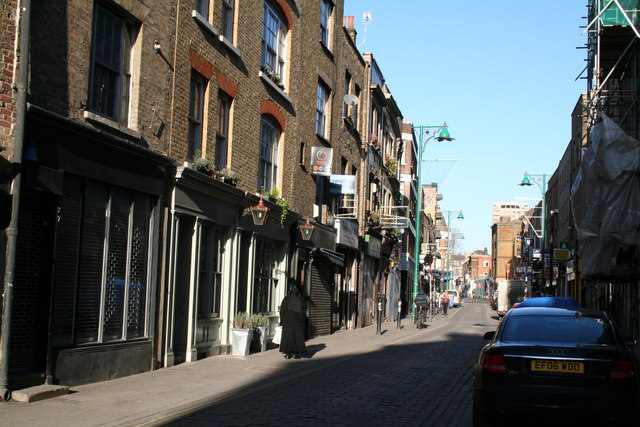 Brick Lane, looking north from Sclater Street