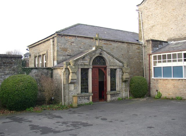 The front of St Mary's RC Church, Hornby