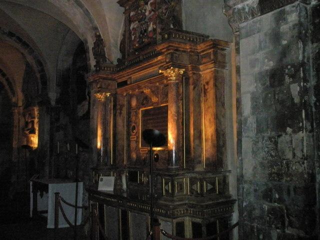 Tomb of Walter Mildmay at St Bartholomew the  Great