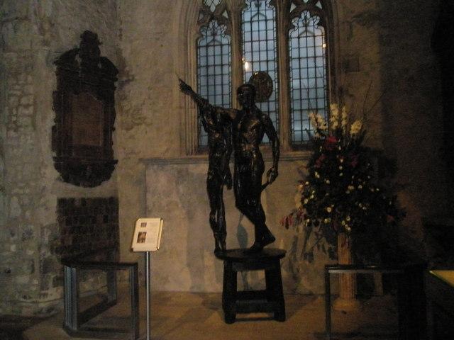 Statue within St Bartholomew the Great