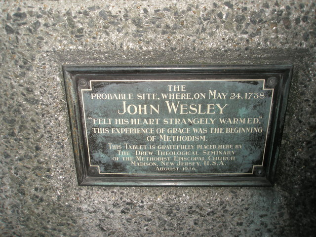 Site where Wesley felt his heart strangely warmed