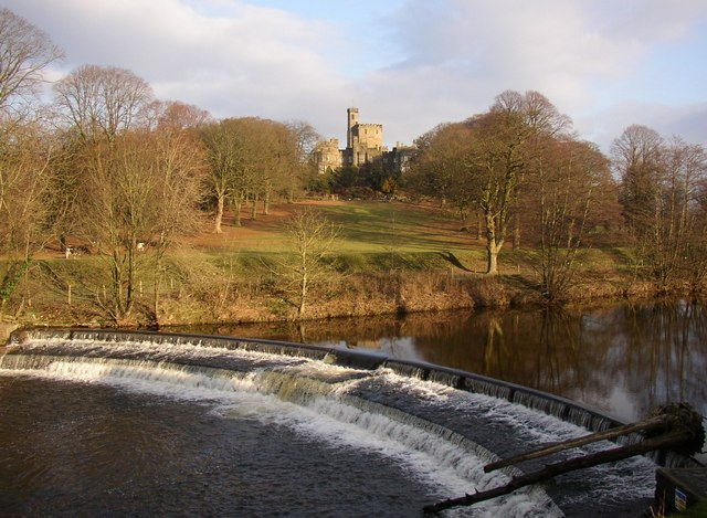 The weir on the River Wenning, Hornby