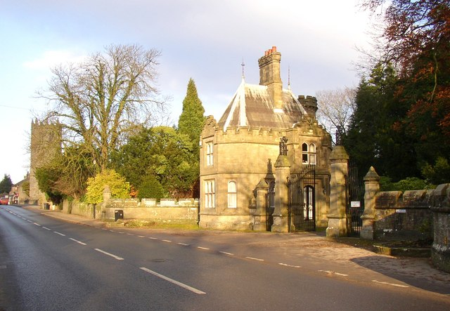Lodge to Hornby Castle,Hornby