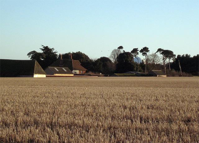 Lower Abbey Farm in the hollow