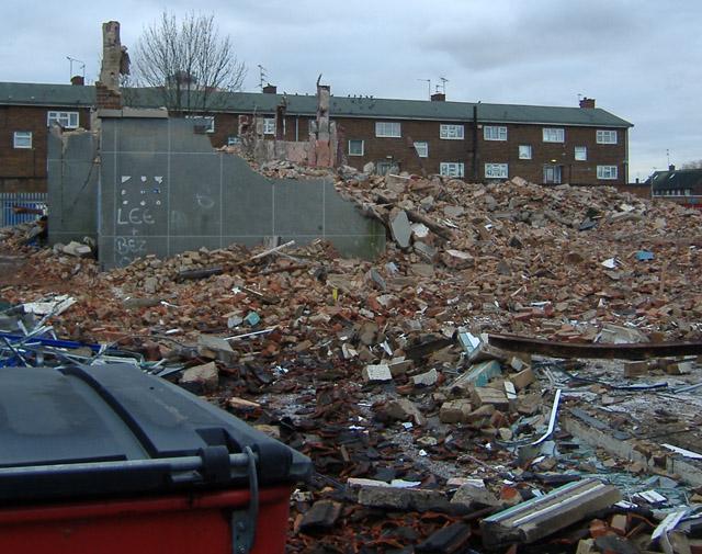 Demolition site, Greenwich Avenue