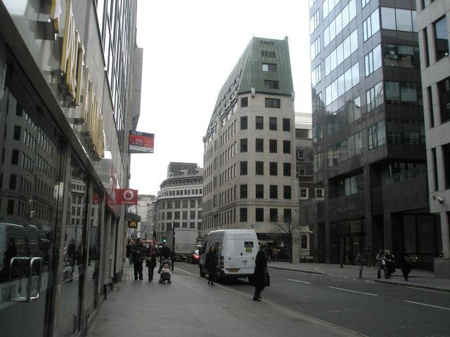 Looking westwards down Cannon Street