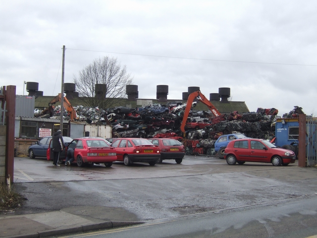 Piled high in the scrapyard