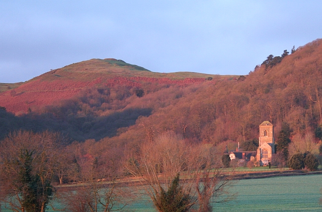 Little Malvern Priory at the end of December