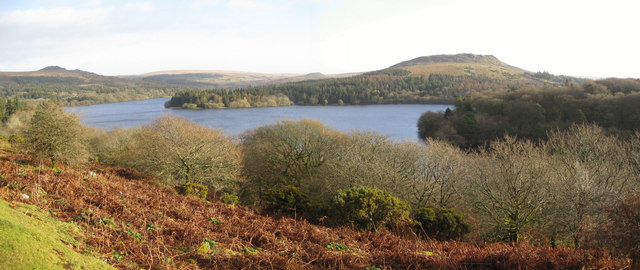 Burrator Reservoir - Sheep's Tor in background