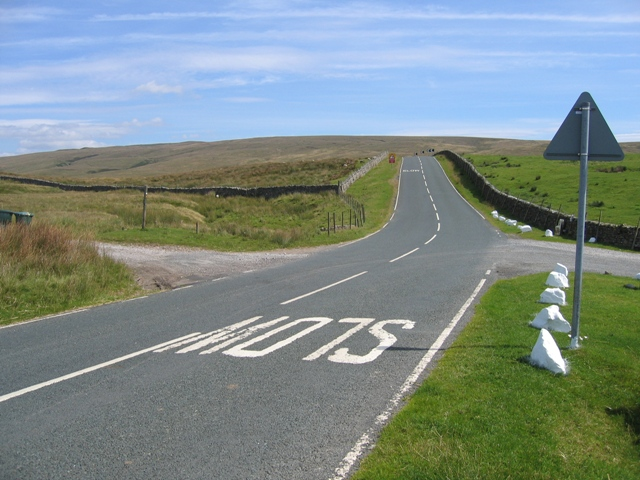 Blea Moor Road junction at Gearstones