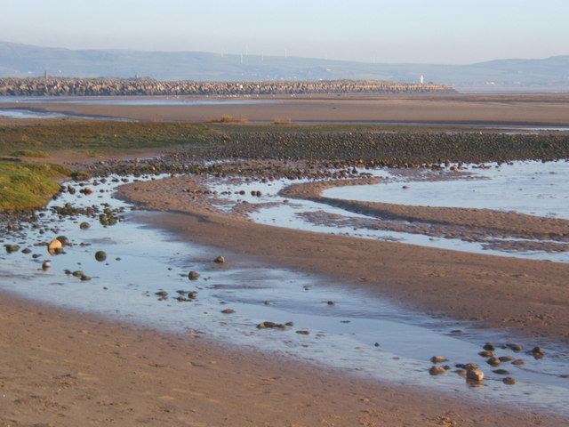 Beach at Haverigg, looking to the sea wall