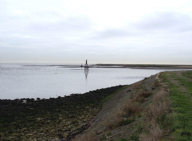 Beacon at mouth of Yantlet Creek