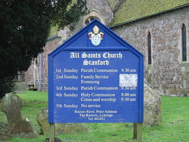 All Saint's church notice board