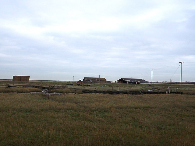 Wharf and farm buildings