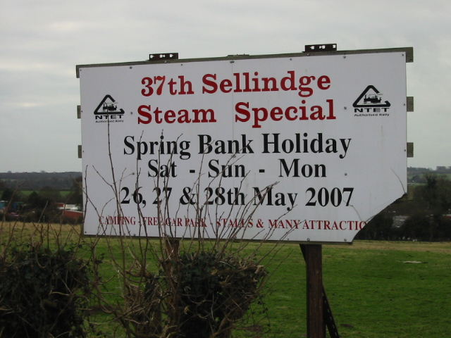 Sign for the Sellindge steam rally