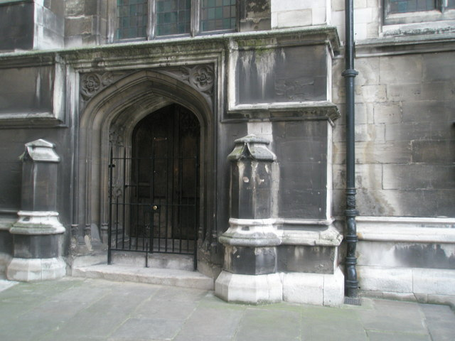 Entrance to St Mary Aldermary