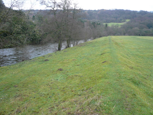 Raised Bank of the River Derwent at Cromford Meadows