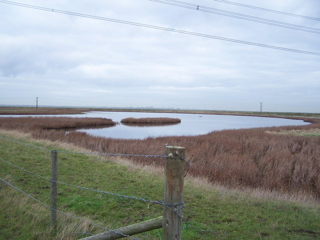 Large pond in Allhallows Marshes