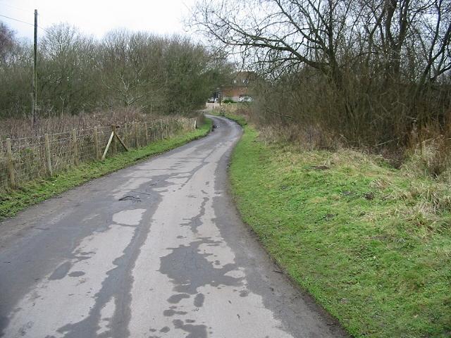 Bottom end of Brook Lane