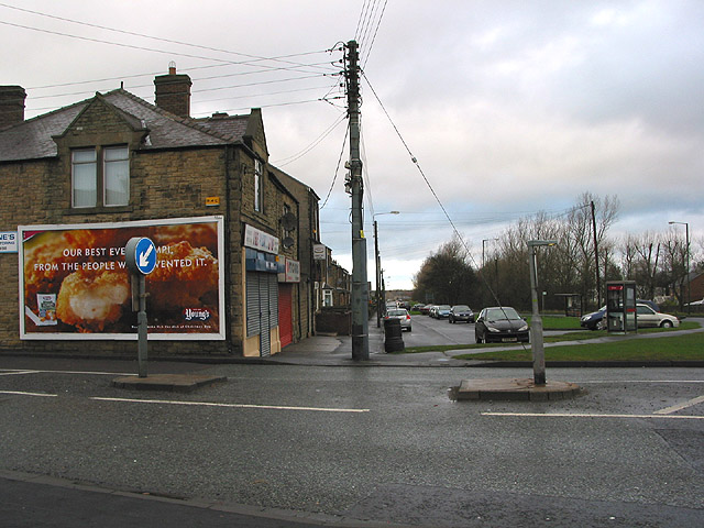 Phonebox by Number 1 roundabout, Medomsley Rd.