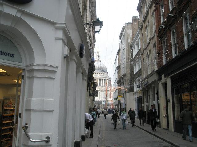 Looking down Watling Street