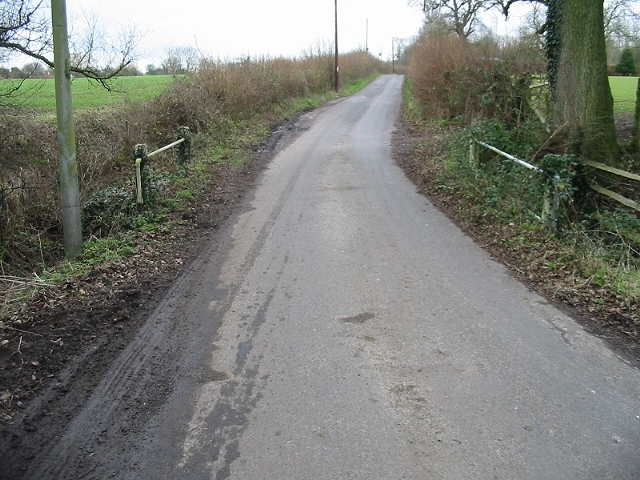Looking S along Moorstock Lane