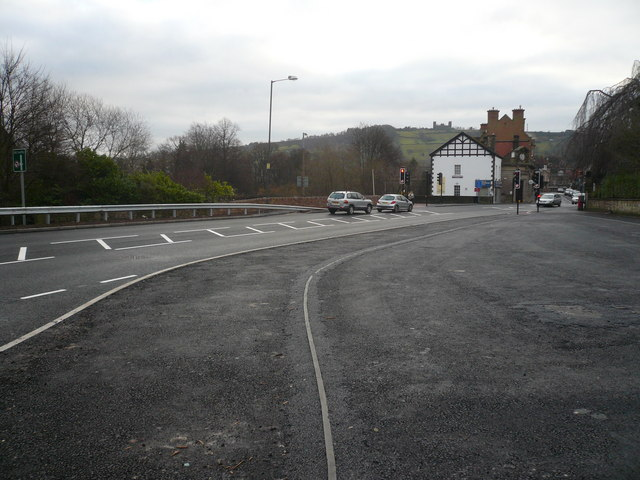 Matlock - View from the new  Bus Station