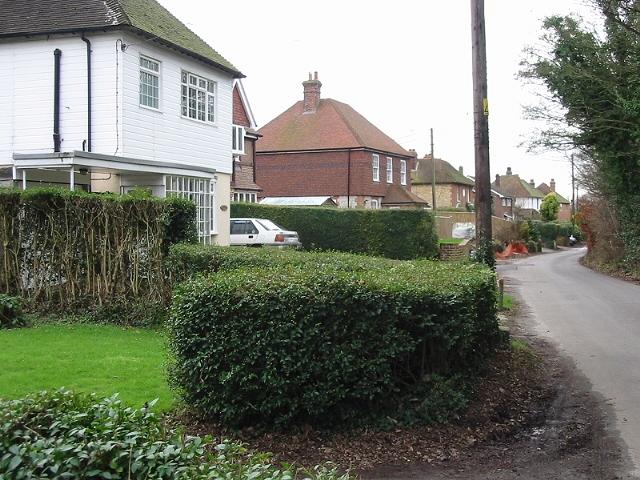 Houses along Moorstock Lane
