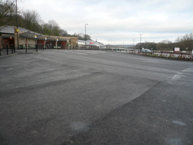 Matlock - View of New Bus Station and Supermarket