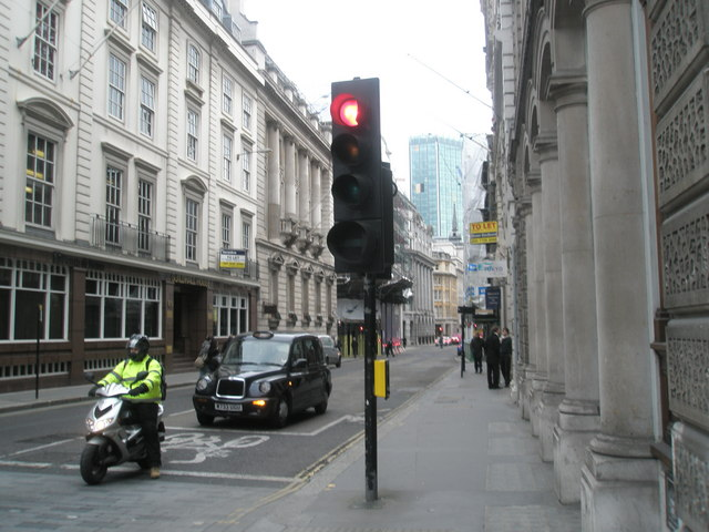 Looking eastwards down Gresham Street