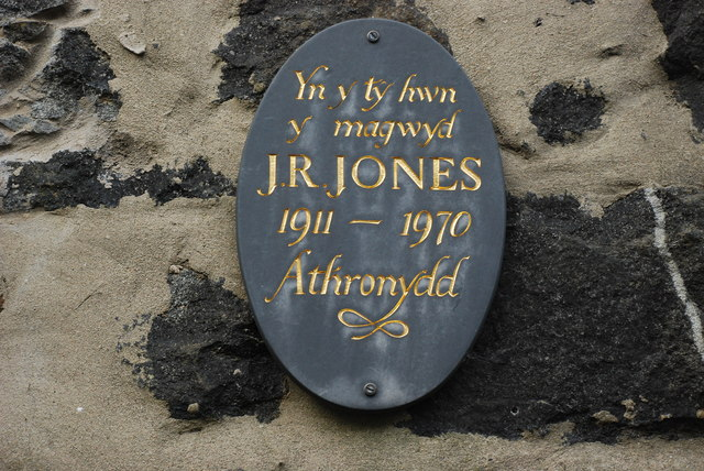 Plac ar Dŷ J R Jones Stryd Penlan Plaque on the House of J R Jones