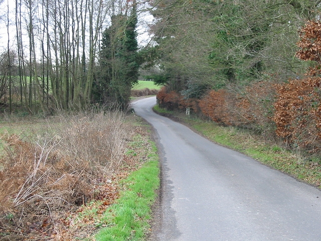 Looking SW along Moorstock Lane