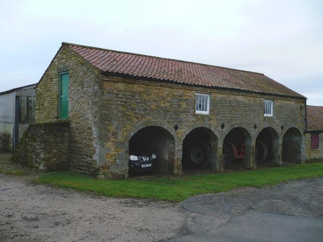Arched barn at Saintoft Grange