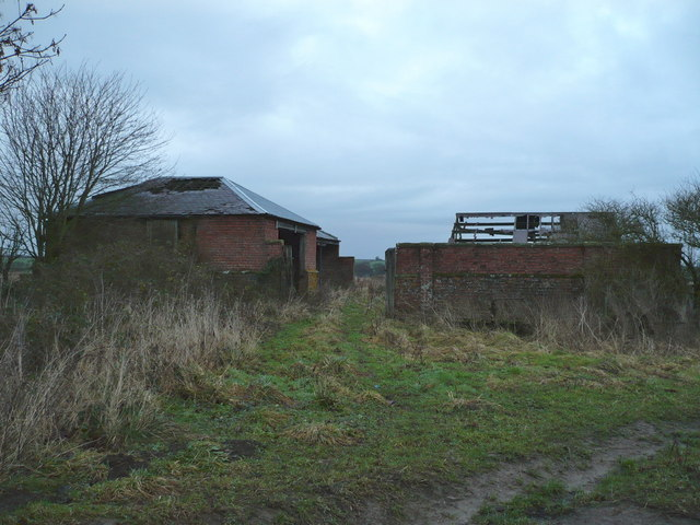 Derelict farm buildings on Haugh Rigg Road