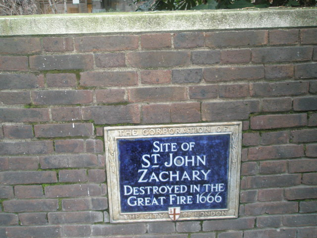 Plaque to former City Church